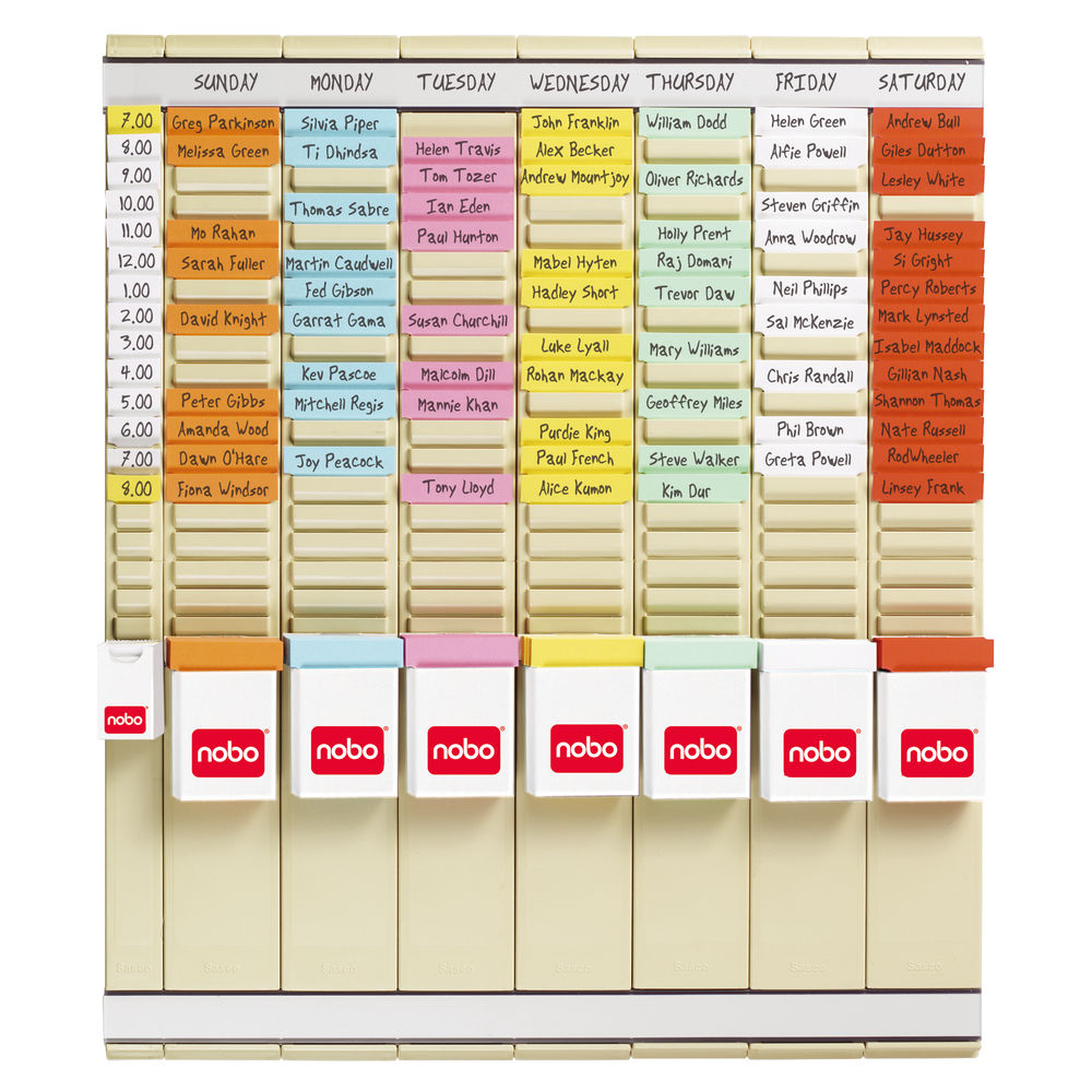 Nobo 7 Day T-Card Planning Kit - 29110