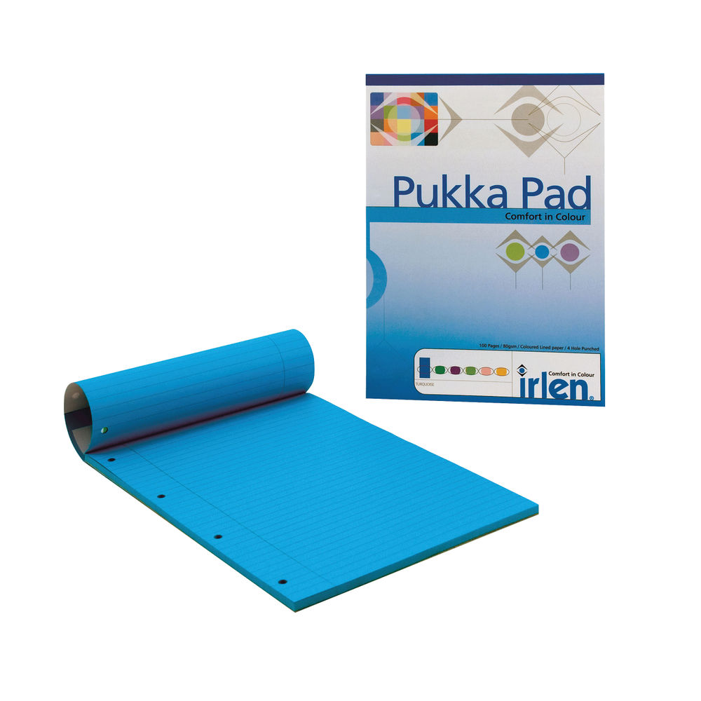 Pukka Pad Turquoise A4 Refill Pad, Pack of 6 - IRLEN50(TURQUOIS