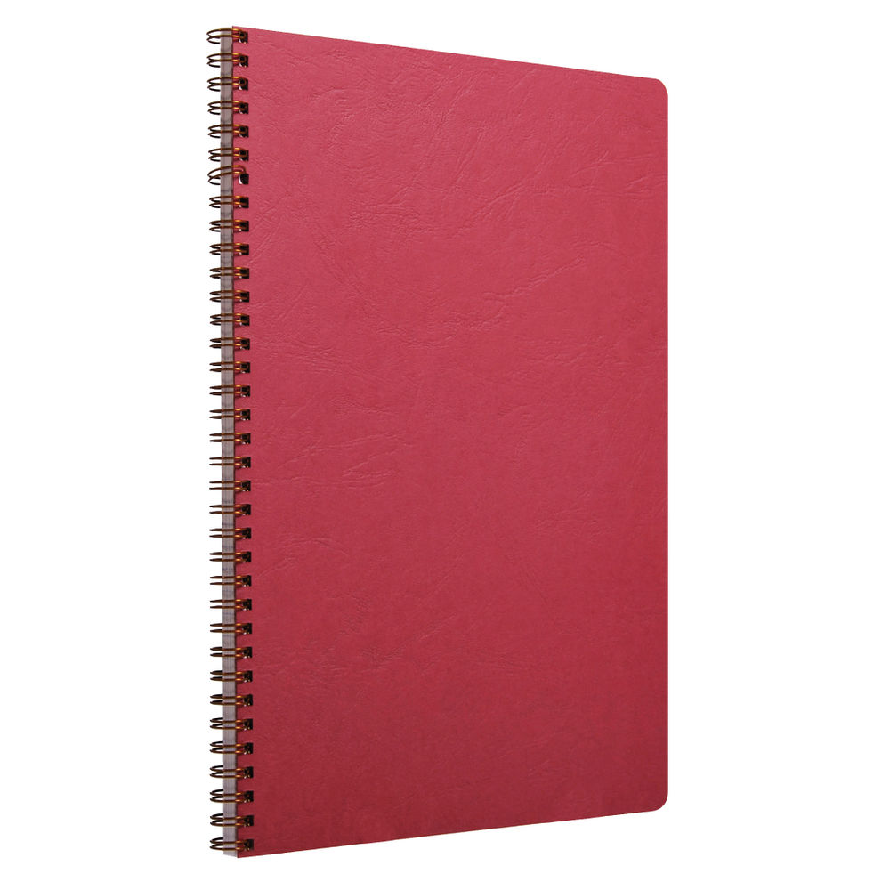 Clairefontaine Red A4 AgeBag Wirebound Notebooks, Pack of 5 - 781452C