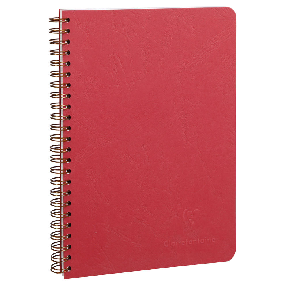 Clairefontaine Red A5 AgeBag Wirebound Notebooks, Pack of 5 - 785362C