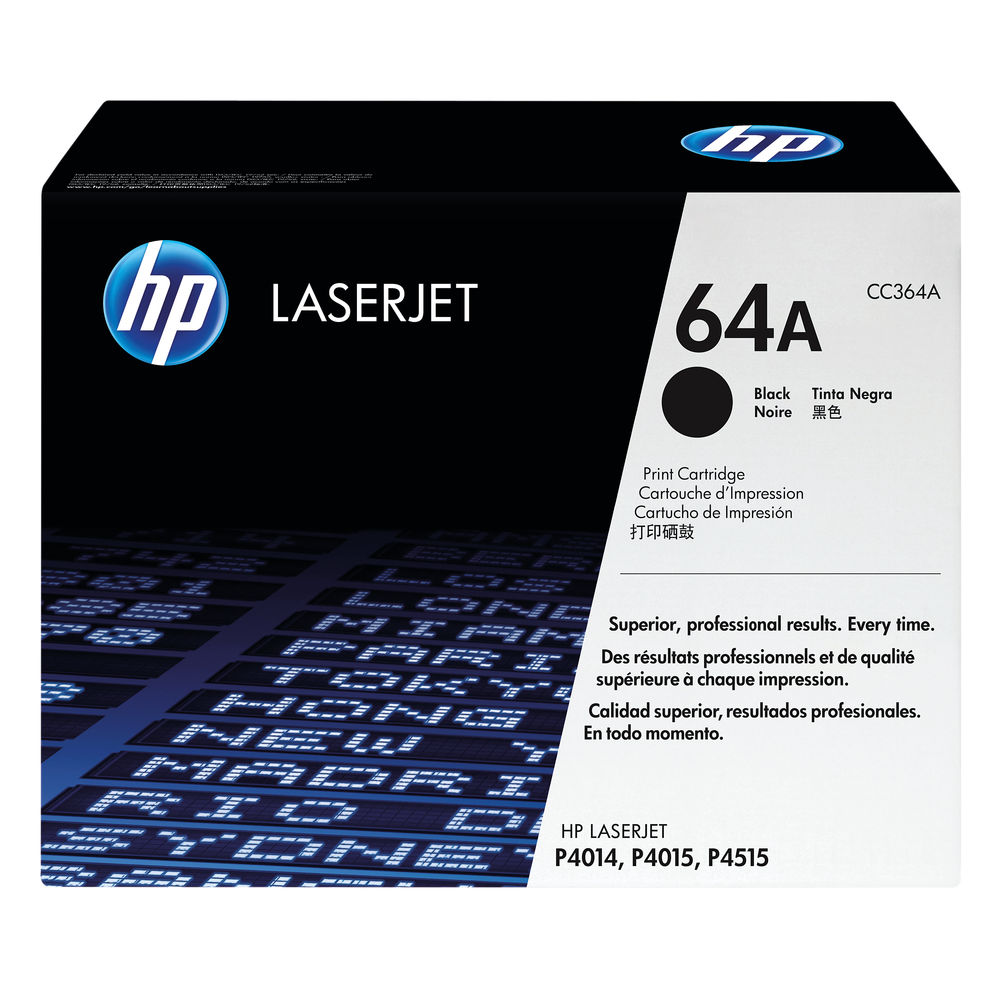 HP 64A Black Toner Cartridge - CC364A