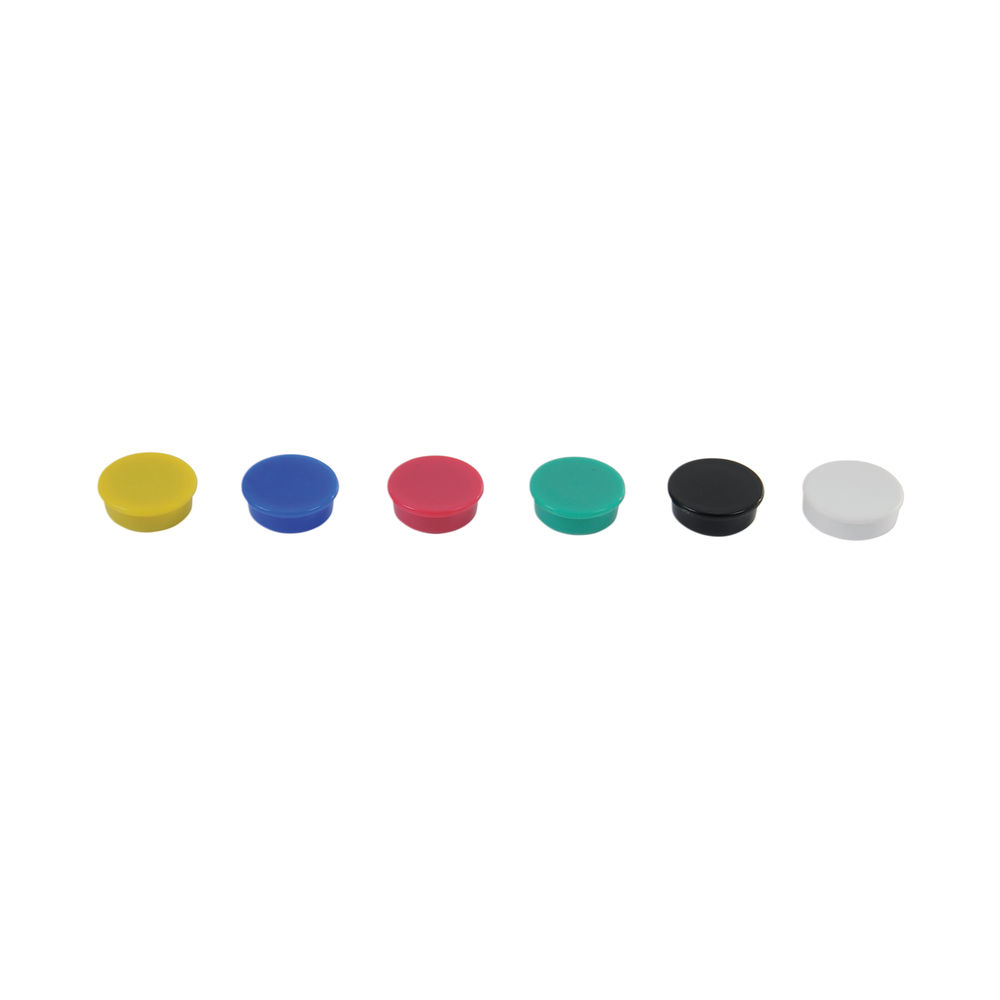 Show-me Round Magnets 24mm Assorted (Pack of 6) MG6A