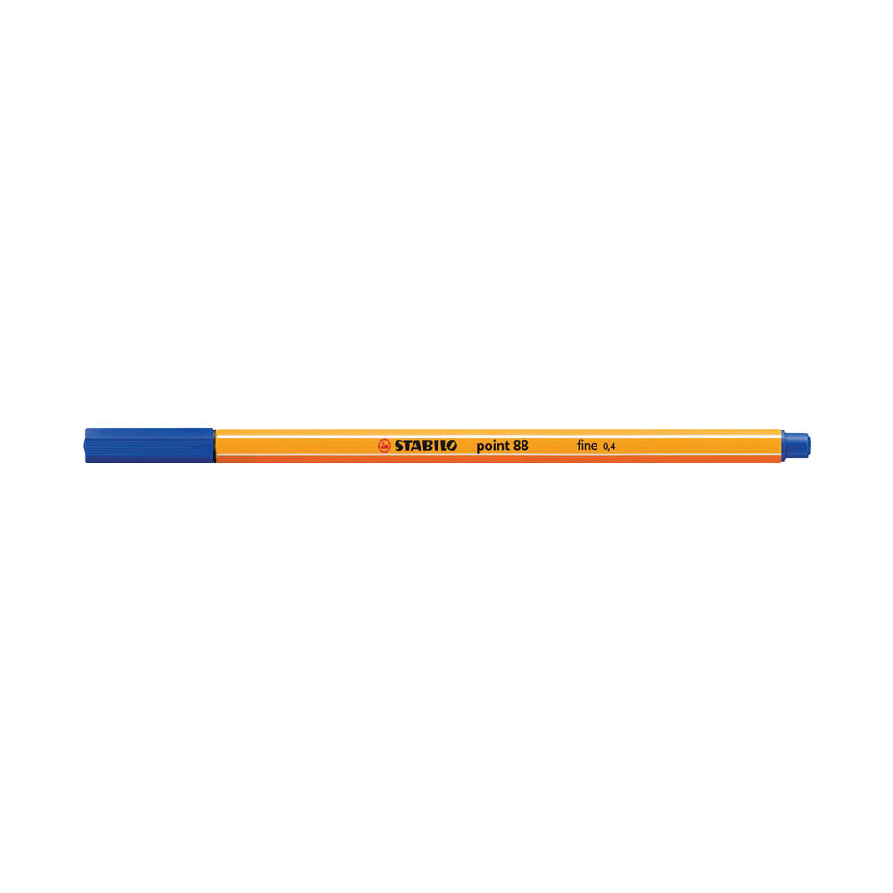 Stabilo Classic Point 88 Fineliner Pens Blue (Pack of 10) 88/41