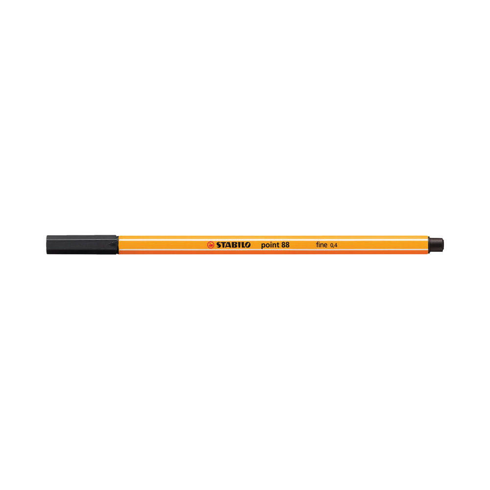 Stabilo Point 88 Fineliner Pen Black (Pack of 10) 88/46