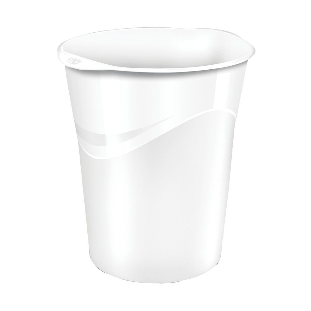 CEP Pro Gloss 14-Litre White Waste Bin | 280G WHITE