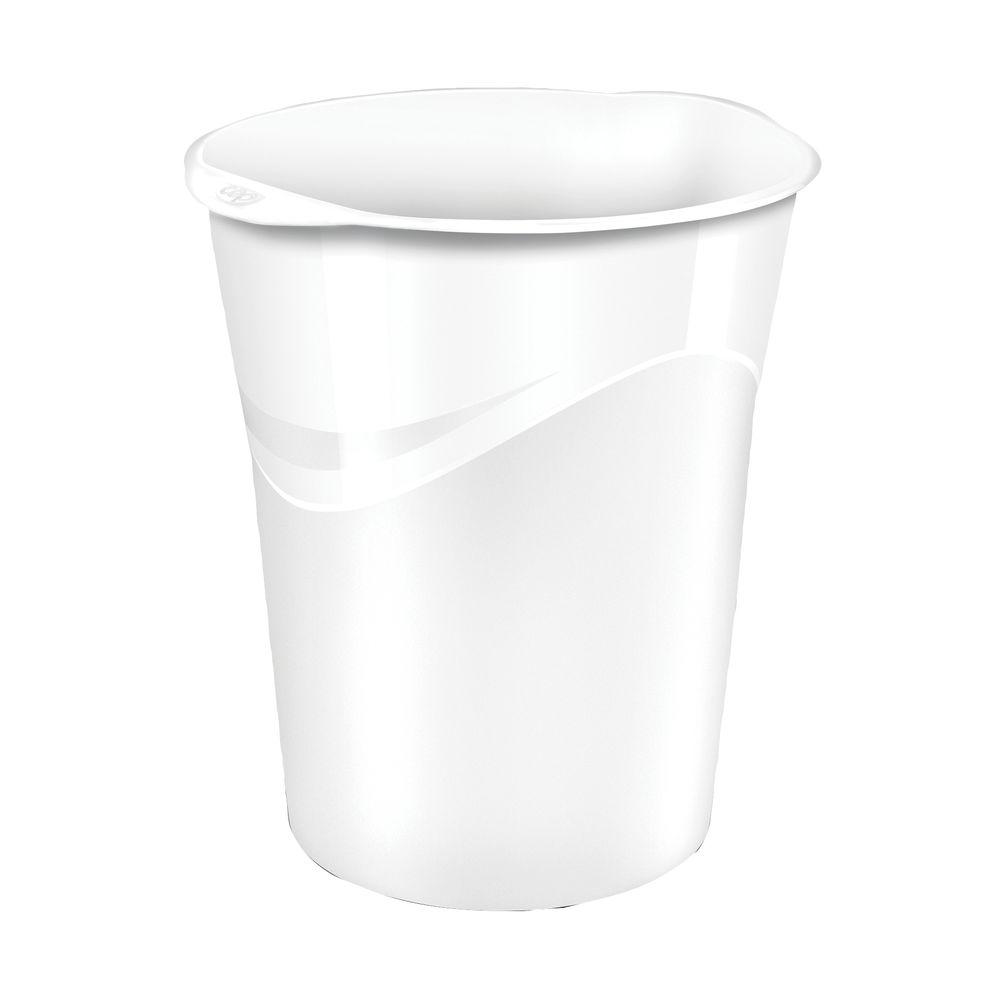 CepPro Gloss White Waste Bin, 14L - 280G WHITE