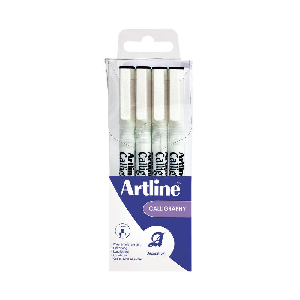 Artline Black Assorted Nibs Calligraphy Pen Set (Pack of 4) - EK-240W4