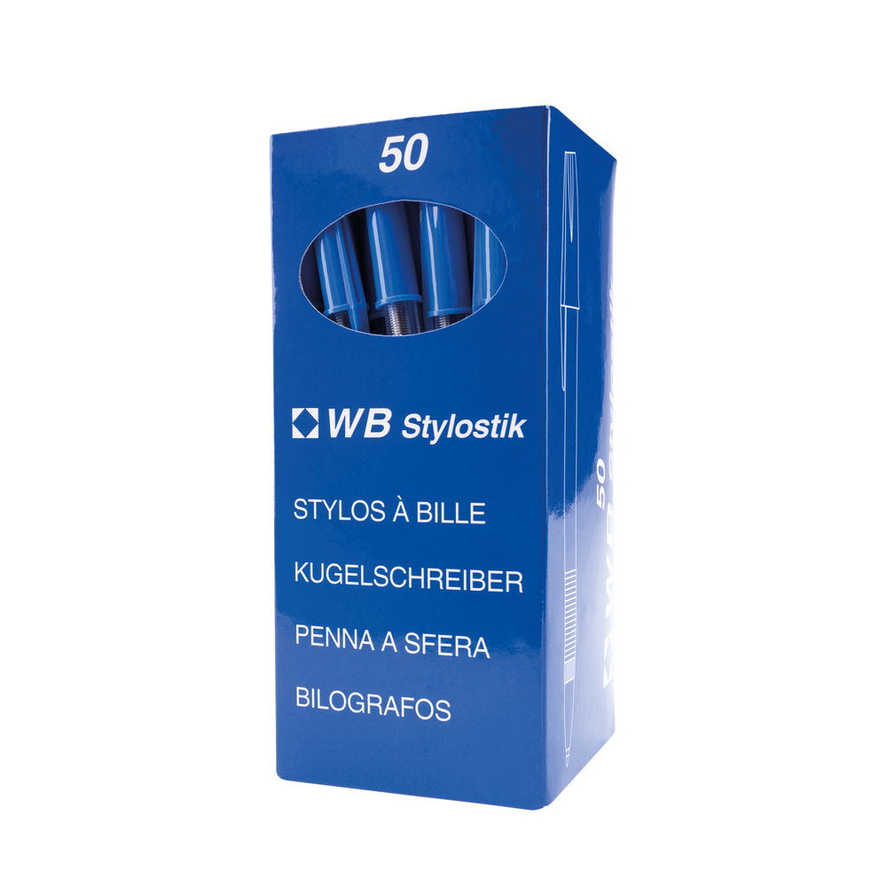 Blue Medium Ballpoint Pens (Pack of 50) WX893623