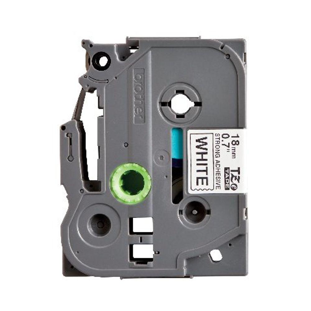 Brother TZe 18mm Black on White Labelling Tape - TZES241