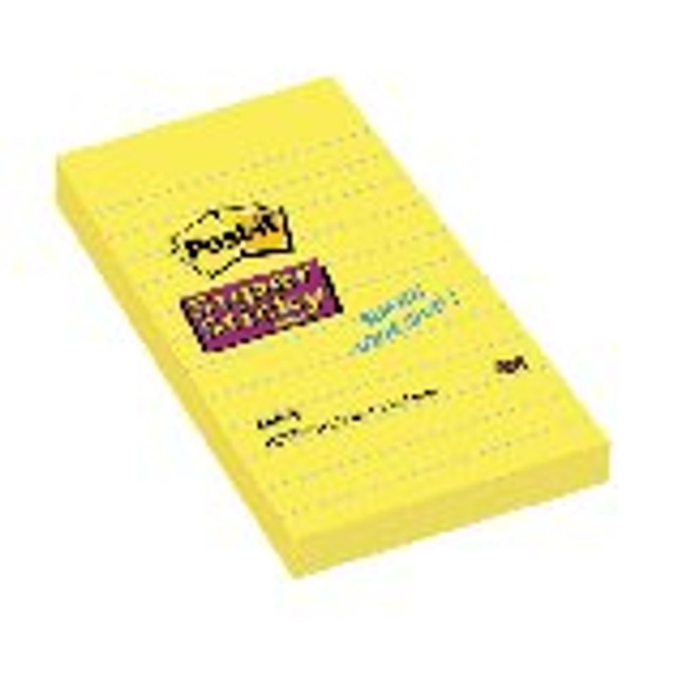 Post-it 101 x 152mm Ultra Yellow Lined Super Sticky Notes, Pack of 6 - 660S