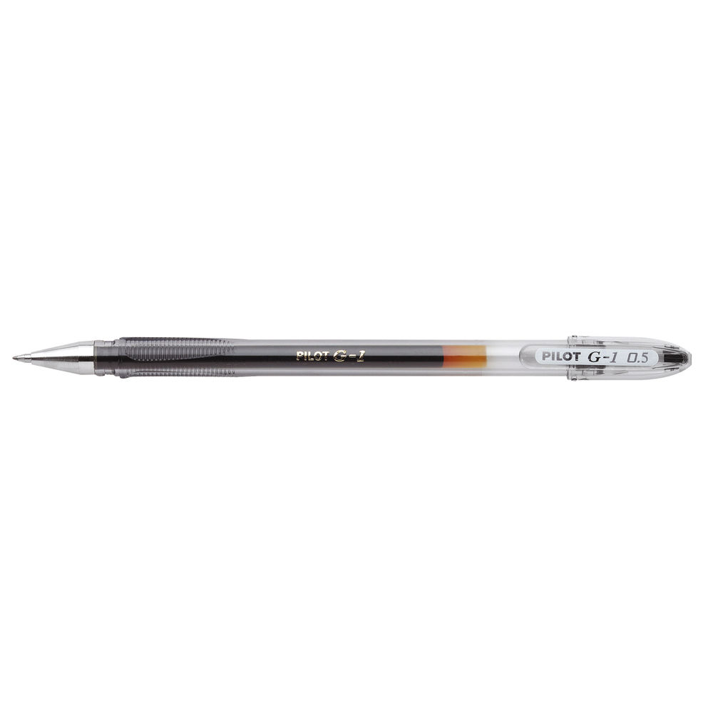 Pilot G1 Black Rollerball Gel Pens, Pack of 12 - G10501
