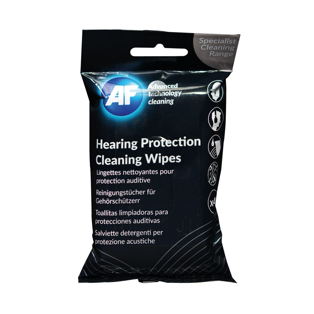 AF Hearing Protection Cleaning Wipes (Pack of 40) EPCW040