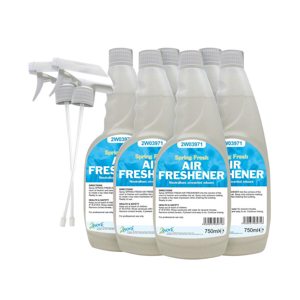 2Work 750 ml Air Fresheners (Pack of 6) – 2W07248