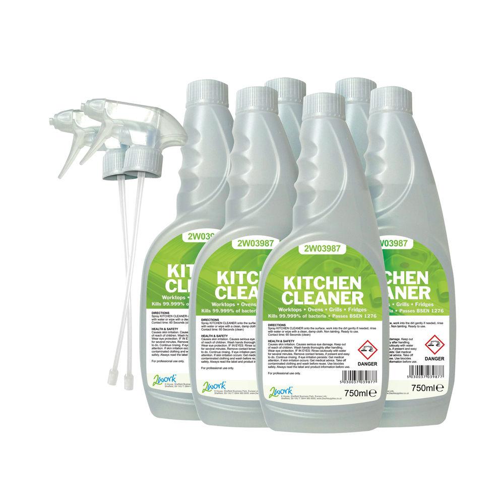 2Work 750 ml Kitchen Cleaner (Pack of 6) – 219