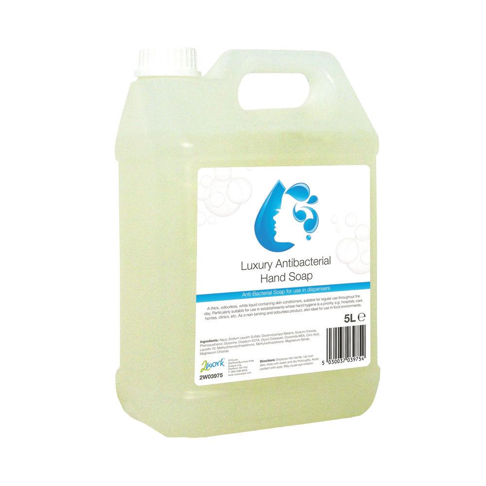 2Work Conditioning Antibacterial Handwash 5 Litre Bulk Bottle 2W03975