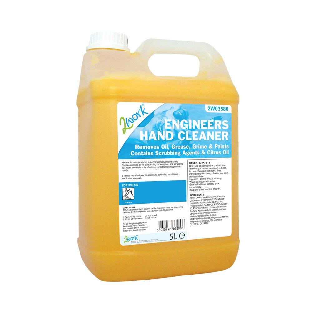 2Work Engineers Hand Cleaner Orange Scent 5 Litre Bulk Bottle 2W03580