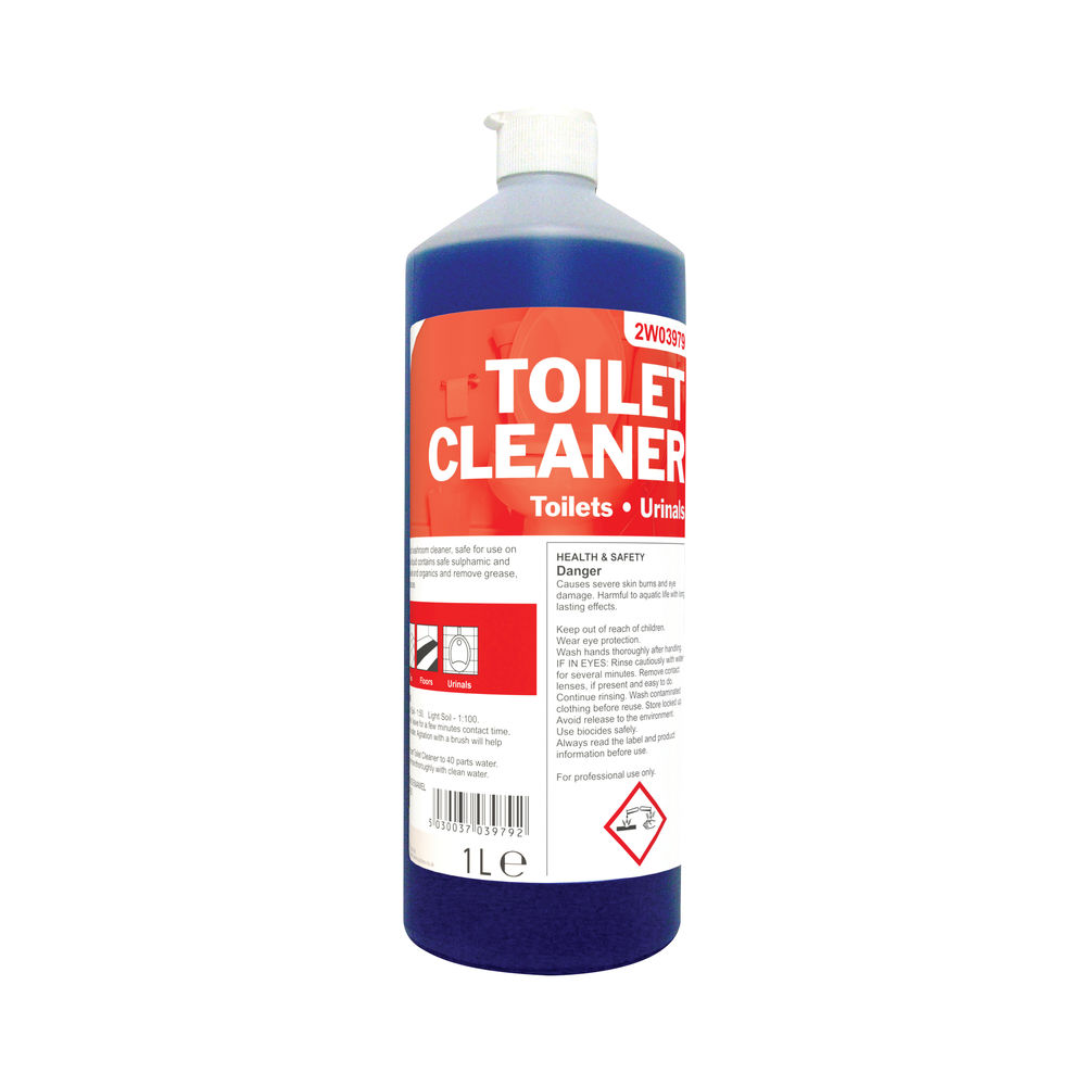 2Work Antibacterial Daily Use Toilet Cleaner Perfumed 1 Litre 2W03979