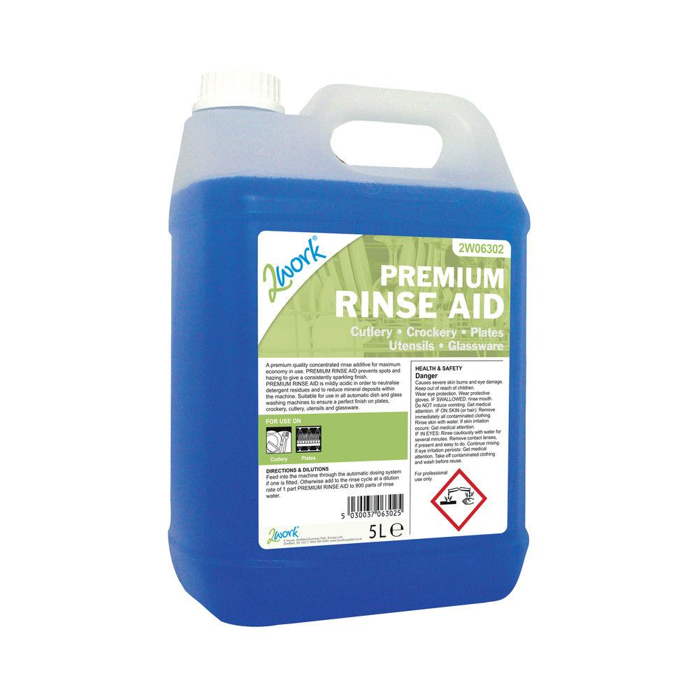 2Work Premium Rinse Aid 5 Litre 2W06302