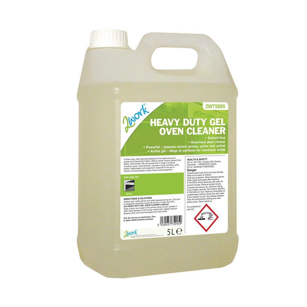 2Work Heavy Duty Gel Oven Cleaner Liquid Gel 5 Litre 2W75995