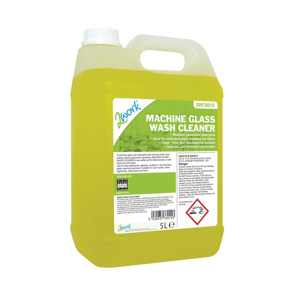 2Work Glass Wash Machine Cleaner 5 Litre Bulk Bottle 2W76015