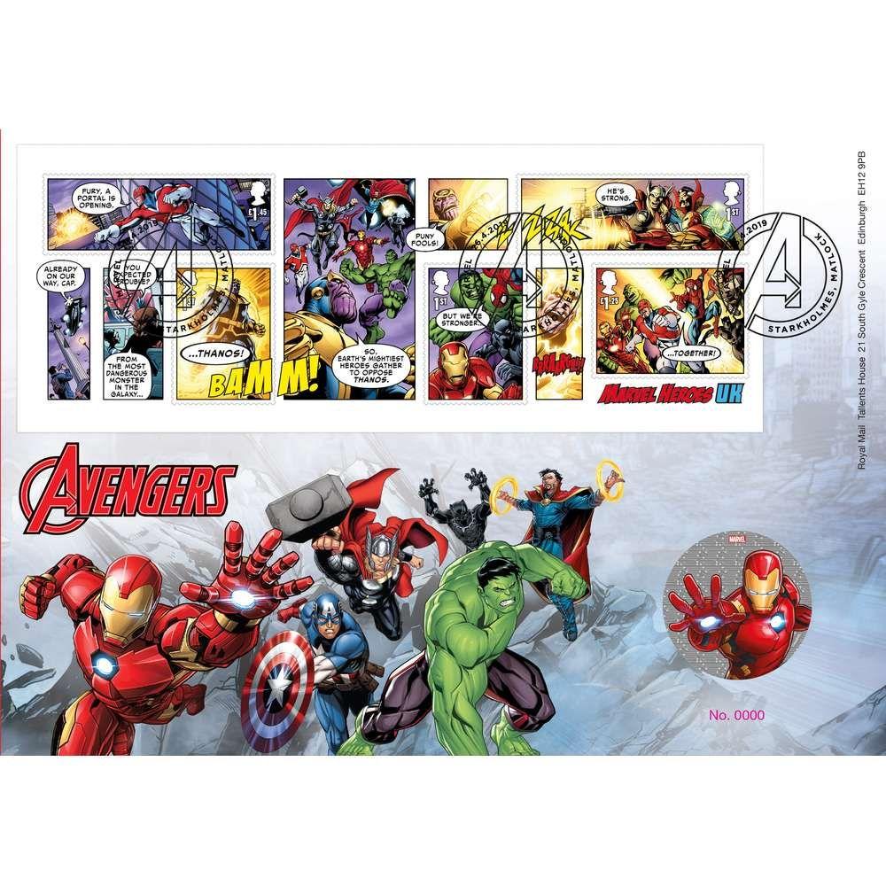 The Marvel Avengers Medal Cover - AM067