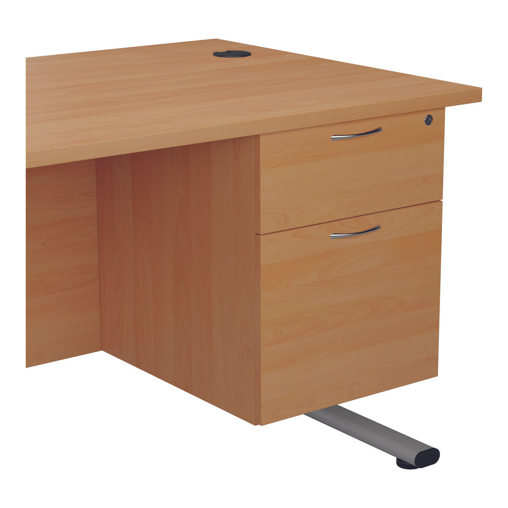 Jemini 655 Beech 2 Drawer Fixed Pedestal