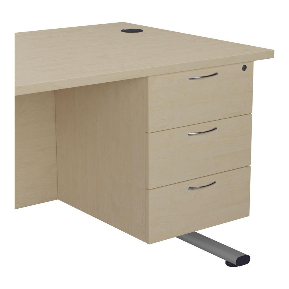 Jemini 655 Maple 3 Drawer Fixed Pedestal