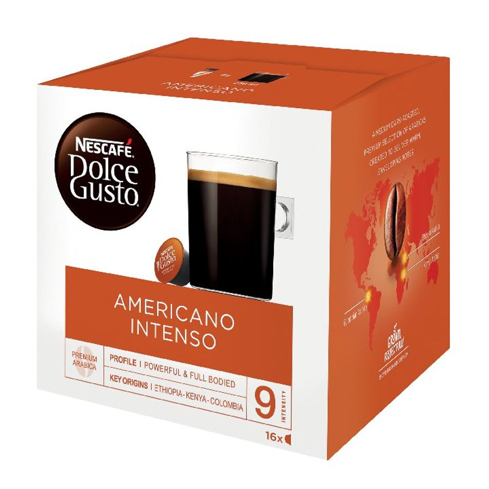 Nescafe Dolce Gusto Americano Intenso Capsules, Pack of 48 - 12208476