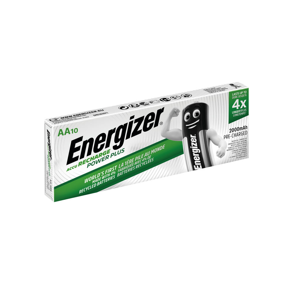 Energizer AA Rechargeable Batteries, Pack of 10 - 634354