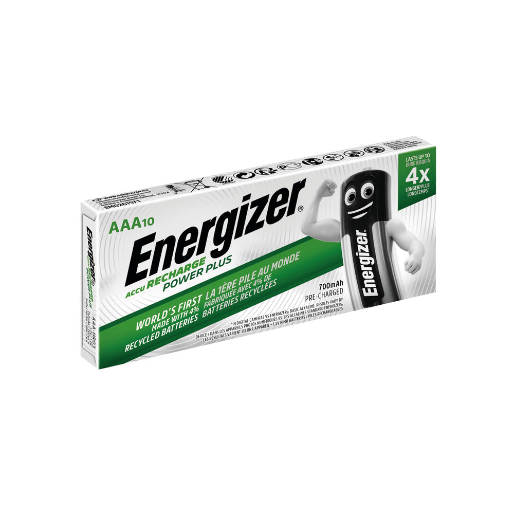 Energizer Rechargeable AAA Batteries 850Mah (Pack of 10) 634355