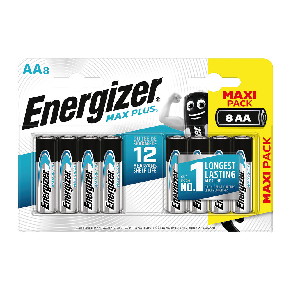 Energizer Max Plus AA Batteries, Pack of 8 - E301324600