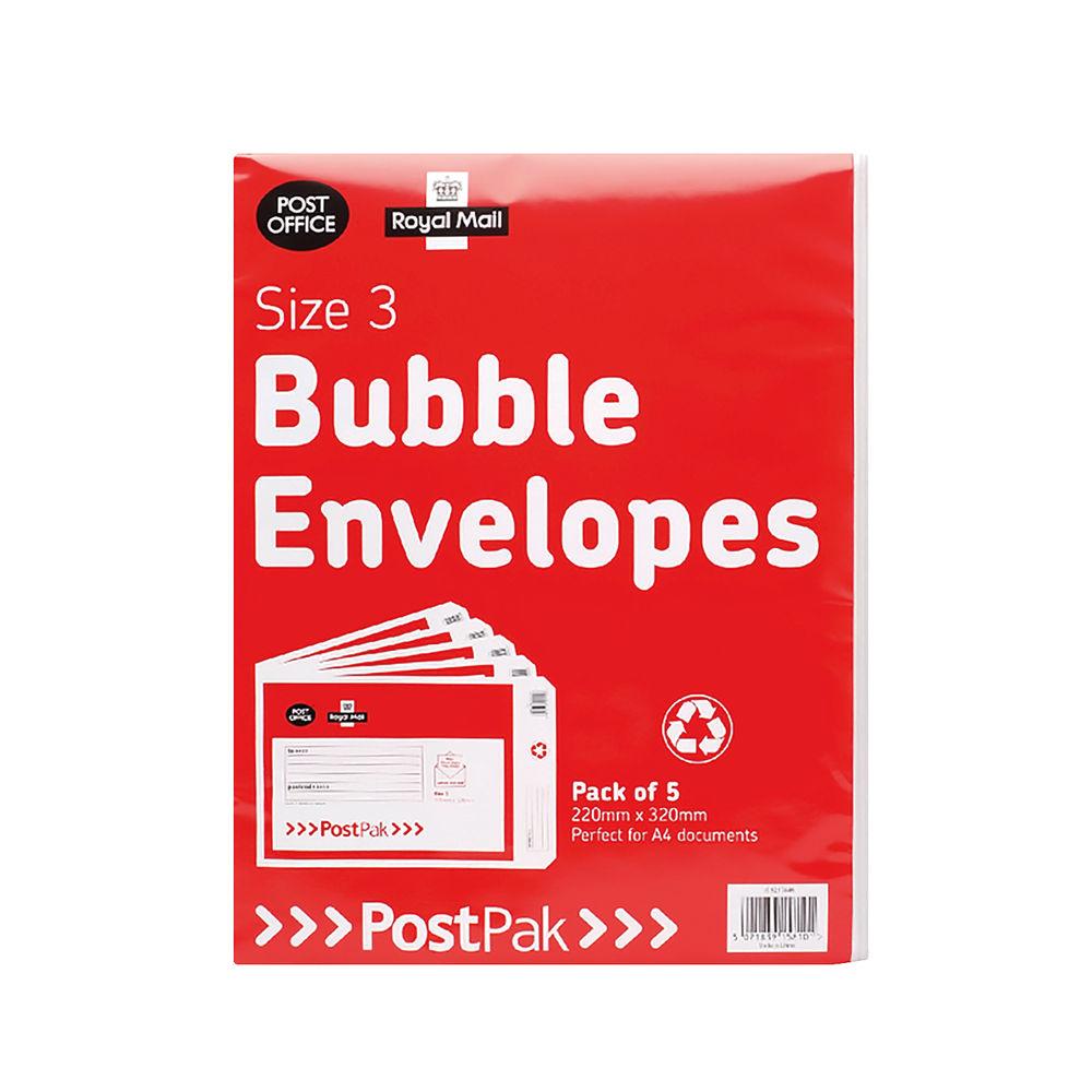 Post Office Postpak Size 3 Bubble Envelopes (Pack of 40) 41631