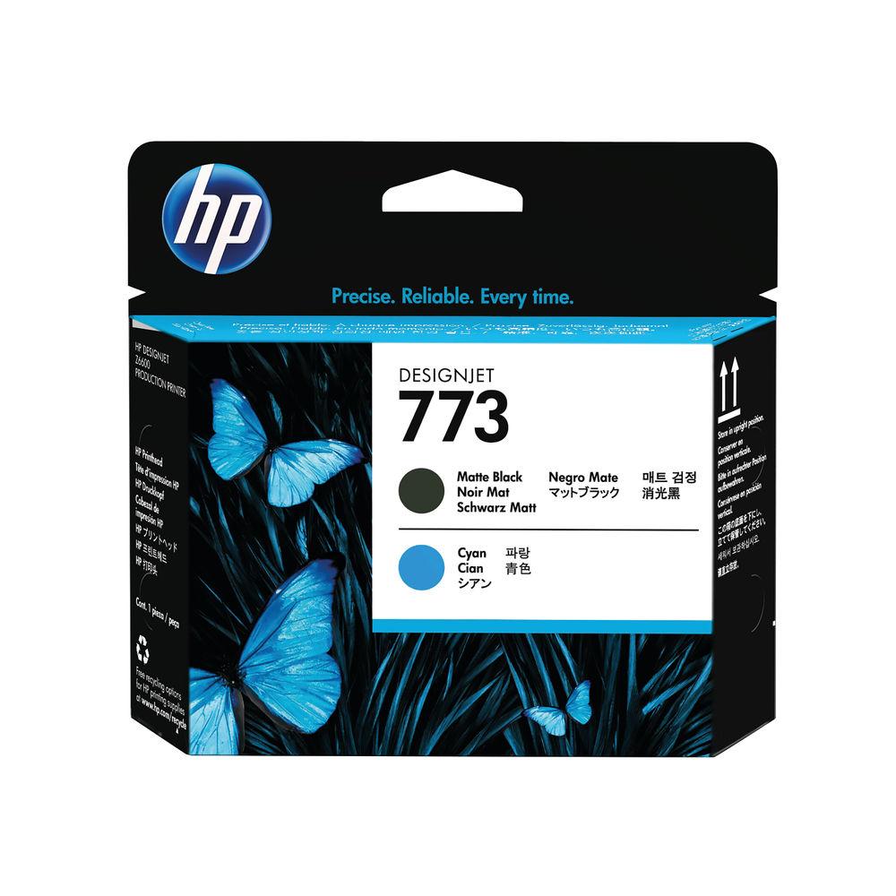 HP 773 Matte Black and Cyan Printhead - C1Q20A