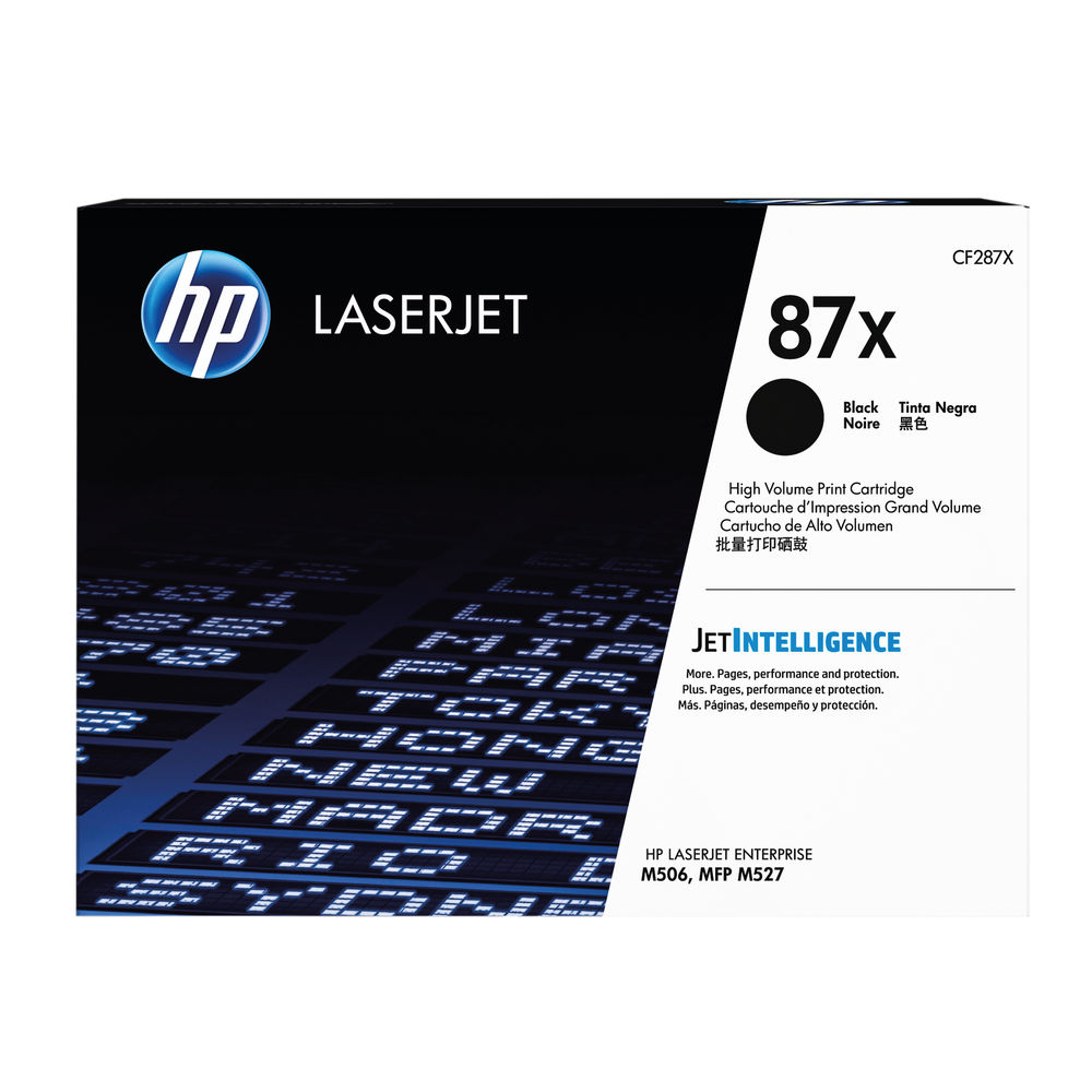 HP 87X High Capacity Black Toner Cartridge - CF287X