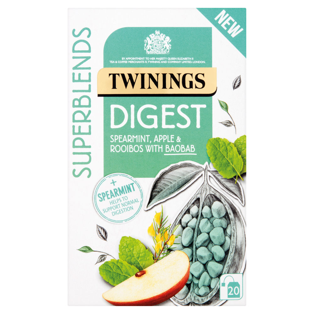 Twinings Superblends Digest Tea, Pack of 20 - F15168
