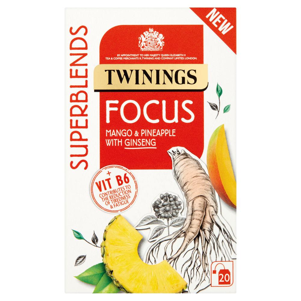 Twinings Superblends Focus Tea, Pack of 20 - F15170