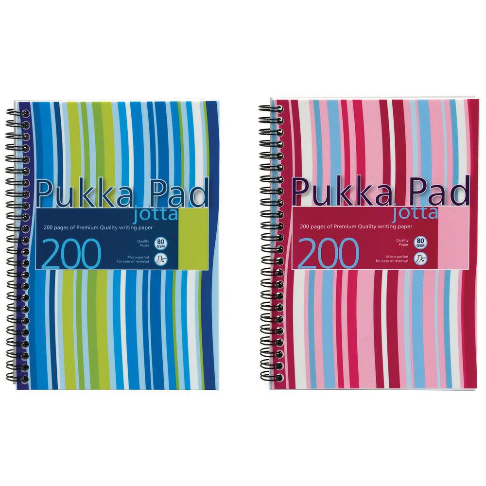 Pukka Pad Striped A5 Jotta Notebooks, Pack 3 - PP00511