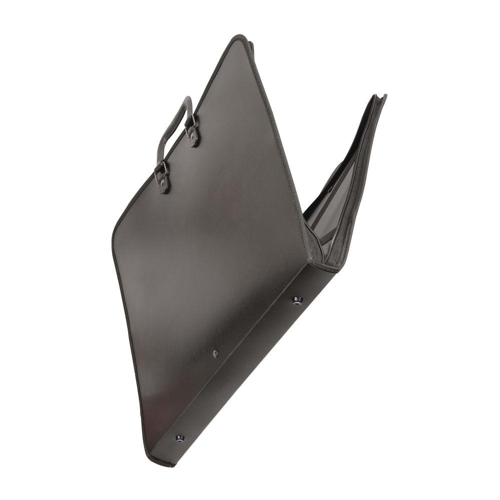 Goldline Black A1 Zip Portfolio - GH12796