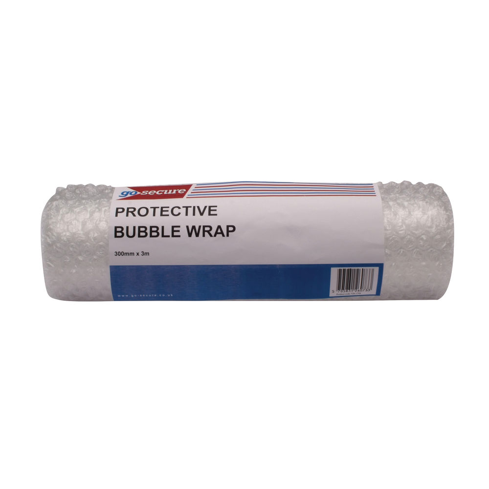 Go Secure Clear Small Bubble Wrap Roll, Pack of 16 - PB02288