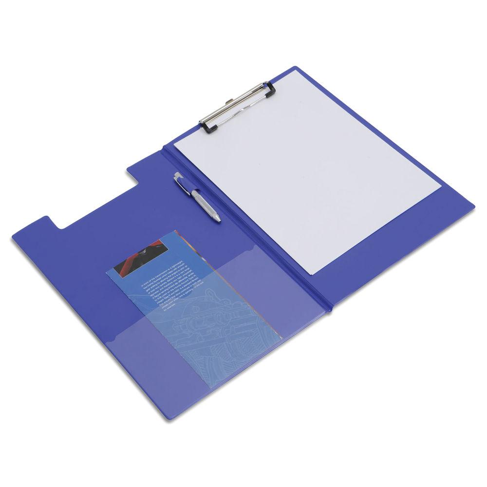 Rapesco Blue A4/Foolscap PVC Foldover Clipboard - VFDCB0L3