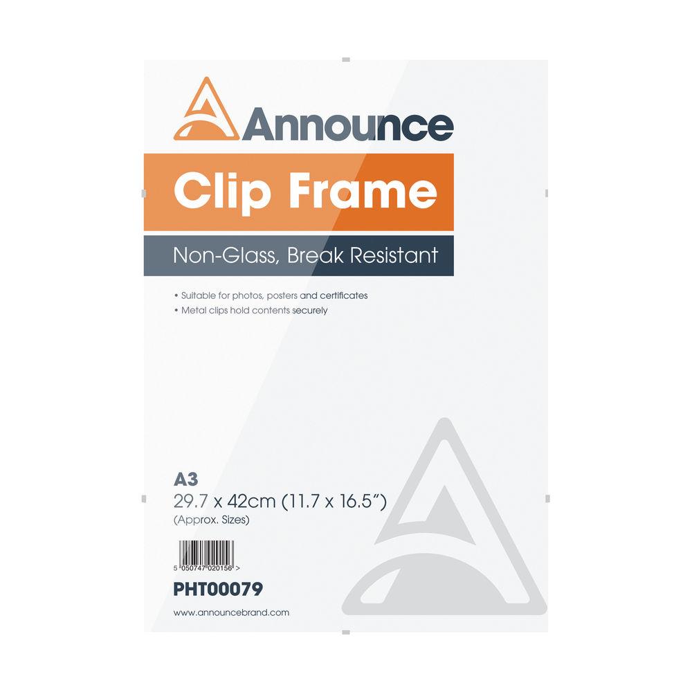 Announce A3 Clip Frame - CF3042NG