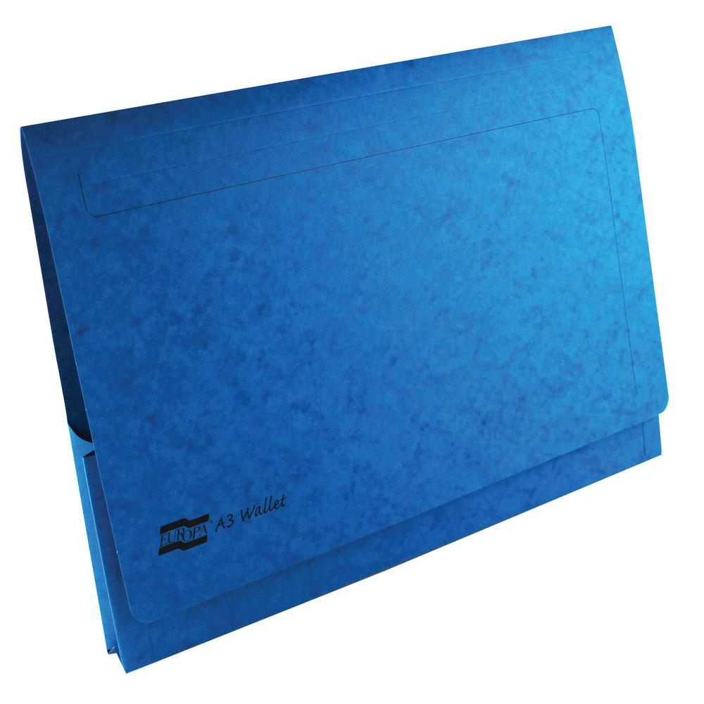 Europa Dark Blue A3 Pocket Wallets - Pack of 25 - GH4785