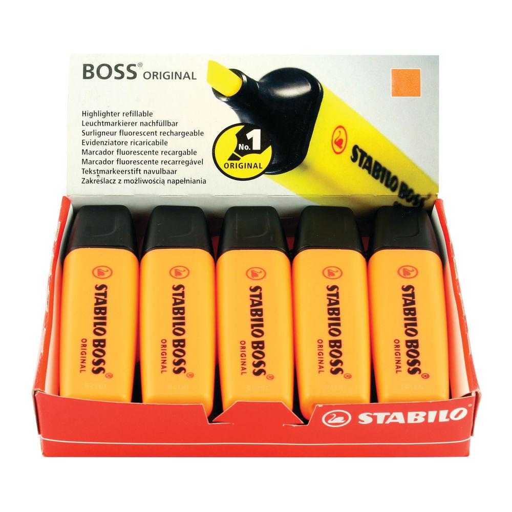 Stabilo Boss Original Orange Highlighters, Pack of 10 - 70/54/10