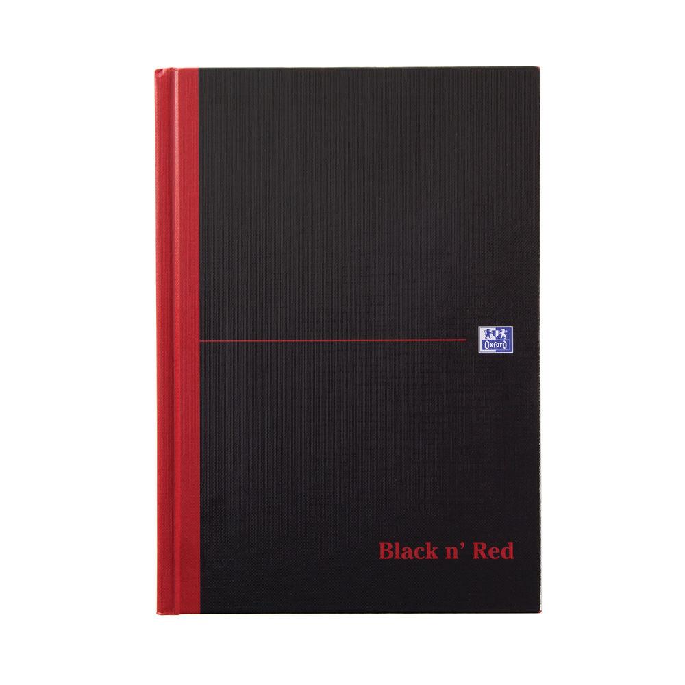 Black n Red A5 Casebound Single Cash Books, Pack of 5 - B66853