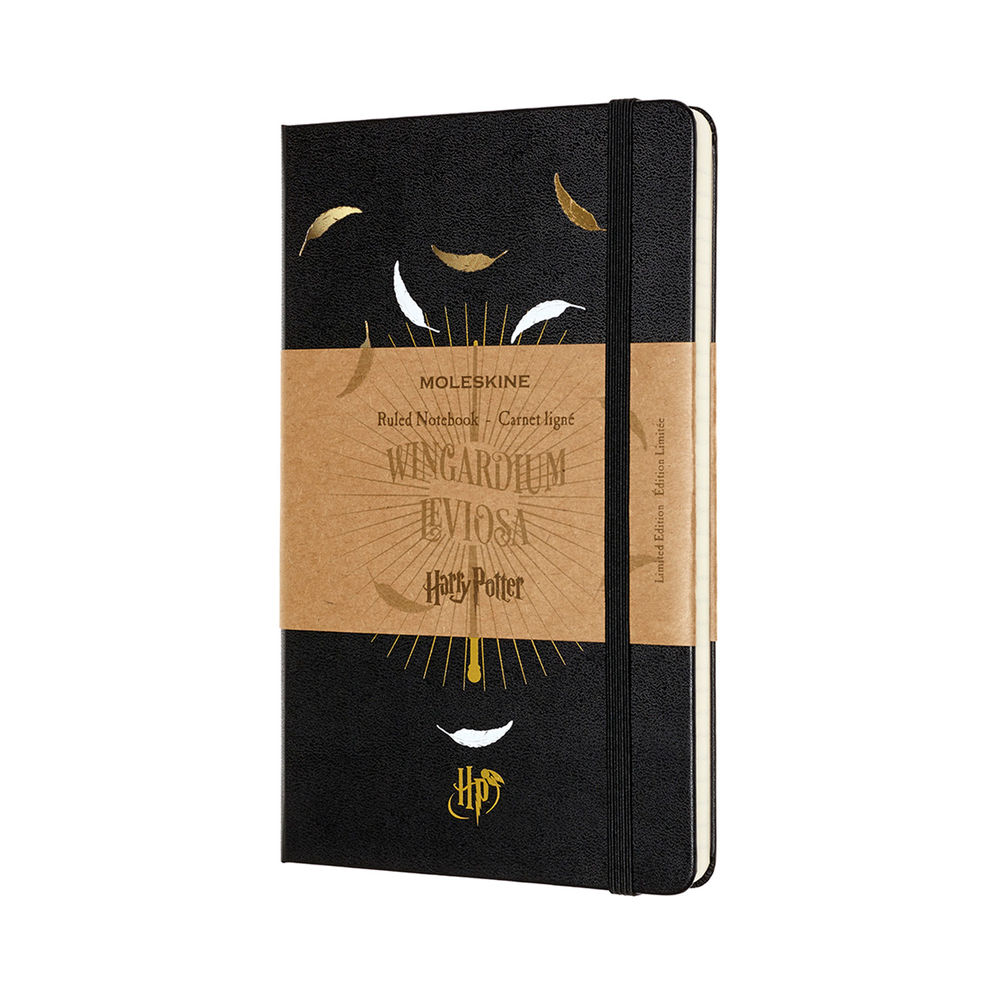 Moleskine Large Wingardium Leviosa Harry Potter Notebook - LEHPCQP060