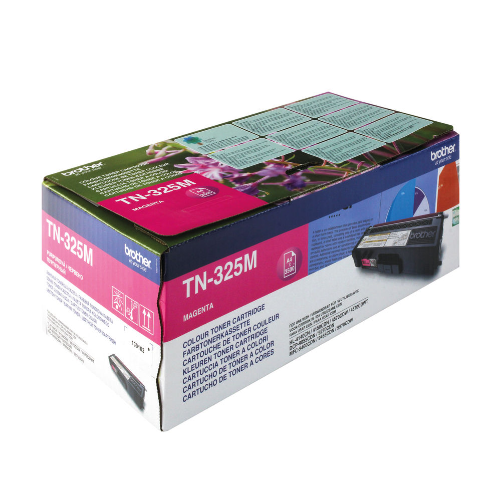 Brother TN-325M Magenta Toner Cartridge - TN325M