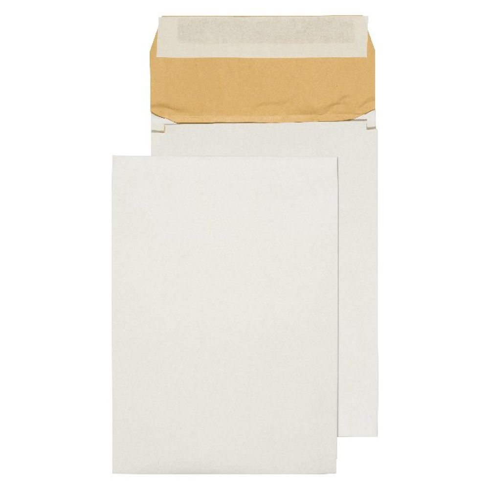 Q-Connect White B4 Peel and Seal Padded Gusset Envelopes, Pack of 100 - KF3532