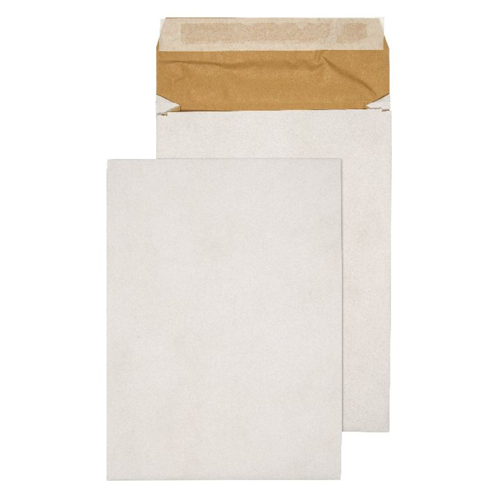 Q-Connect White C4 Padded Gusset Peel and Seal Envelopes, Pack of 100 - KF3531