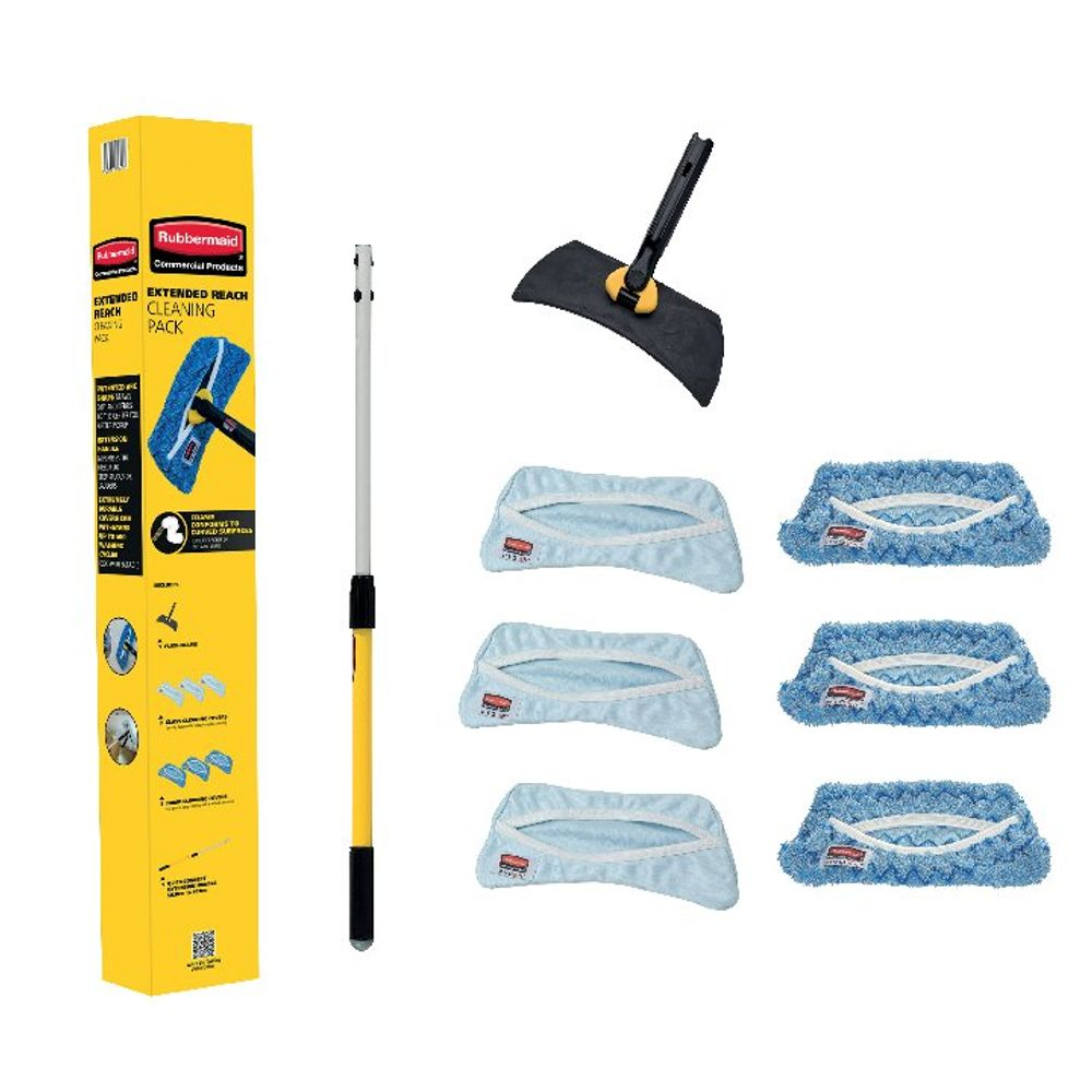 Rubbermaid High Level Glass Cleaning Kit 1940379