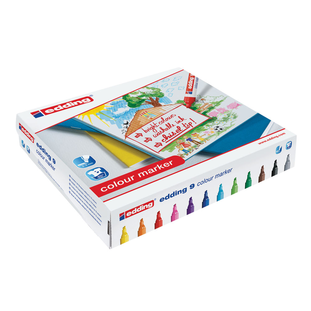 edding 9 Assorted Colour Markers, Pack of 144 - 300459000